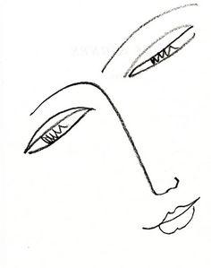 Matisse drawing eyes