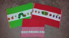 More very hungry caterpillar burp cloths I made :) Hungry Caterpillar Nursery, Very Hungry Caterpillar, Burp Cloths, Future Baby, Tree Skirts, Carrie, Create, Holiday Decor