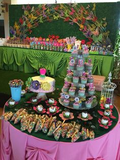Flower garden and butterfly theme party