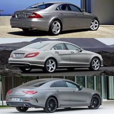 3 generations of mercedes benz CLS-Class. (2005-2012-2019)