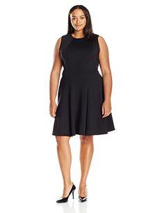 calvin klein women's plus size printed inverted pleat dre-$129.50