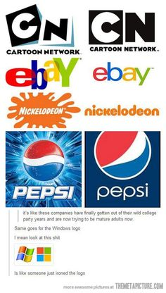 Logos grow up just like everyone else