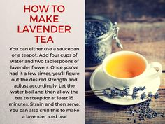How to make Lavender Tea?  For more health tips, visit: www.DoctorsHealthPress.com