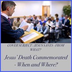 """In 2015, the Memorial of Jesus' death falls on Friday, April 3, after sundown. ♥•.¸¸.•♥   JW.org > Publications > Magazines > The Watchtower, March 2015 Cover Subject: JESUS SAVES - FROM WHAT? Article: """"Jesus' Death Commemorated - When and Where?""""  ༺♥༻ JW.org has the Bible and study aids to read, watch, listen and download in 700+ (sign included) languages. Also home bible studies. Plus now TV.JW.org and all at no charge."""