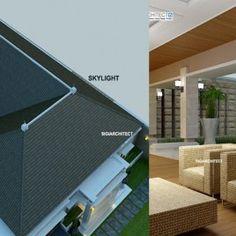 Desain Villa Bali 1 Lantai I Teras Rumah, Taman & Kolam