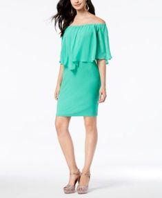 Thalia Sodi Chiffon Popover Dress, Created for Macy's | macys.com