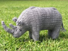 rhino knitting pattern free - Google Search  I found it on a search for free patterns, but it's not free