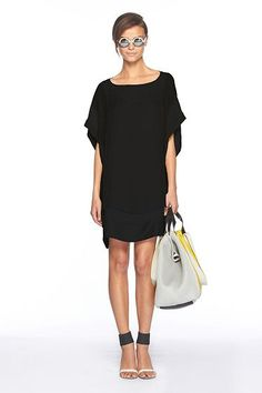 Diane von Furstenberg's black woven silk Umeki Dress