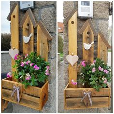 Diy Water Fountain, Diy Deck, Garden In The Woods, Permaculture, Wooden Signs, Wood Art, Wood Crafts, Shabby Chic, Bird