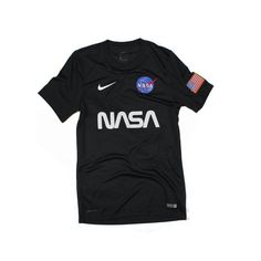 """The""""Nasa Deep SpaceJersey"""" by The Concept Clubis a luxe, Nike jersey with DRI-FITtechnology for superior moisture management with a fineembroidered team patch, hand printed with care, constructed ribcrew neck, mesh side panels.Ultra soft and comfortable fit. Dri-FIT fabric construction Authentic Nike Apparel Mesh fabric for added breathability Dri-FIT fabric helps keep you cool. Laser-cut holes for added ventilation. Engineered mesh back enhances breathability. Vented hem f..."""