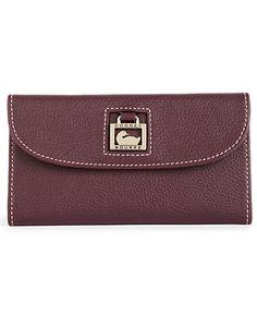 Dooney & Bourke Handbag, Portofina Leather Continental Clutch Wallet - Dooney & Bourke - Handbags & Accessories - Macy's