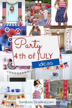 Find fun options for decorating and throwing a last minute Fourth of July Party! Patriotic ideas to make your celebration fun, festive and easy 4th Of July Party, Fourth Of July, Paper Party Decorations, Mommy And Me Dresses, How To Make Banners, Wooden Flag, Flag Banners, Colored Paper, Star Shape