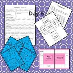 This #teaching unit provides 12 days of instruction Problem Solving Activities, Teaching Activities, Math Lesson Plans, Math Lessons, 3rd Grade Math Worksheets, Math Blocks, Math Talk, Data Tracking, Learning Targets