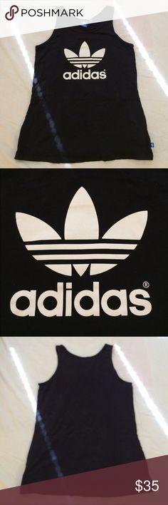 Adidas Tank Basic black Adidas tank top size medium; fits small.  No trades / modeling. Adidas Tops Tank Tops