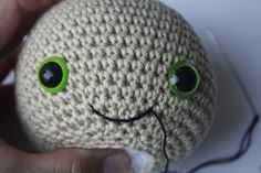 How to stitch a mouth to your amigurumi doll?