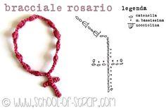 Crochet Bracelet Cross - Tutorial ❥ 4U hilariafina  http://www.pinterest.com/hilariafina/