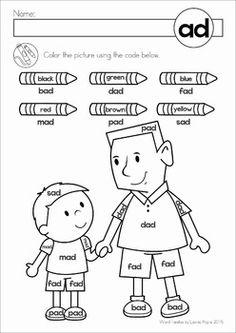 2 Free CVC AD Word Family WorksheetsBuild a minibook