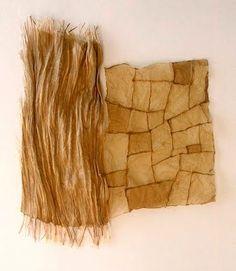 Susan Warner Keene, folio series: life study no. 3, flax paper, linen thread, 1996.