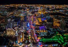 Las Vegas: de noche y desde el cielo como nunca antes la habías visto