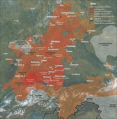 """""""The German Peasants' War or Great Peasants' Revolt (German: Deutscher Bauernkrieg) was a widespread popular revolt in the German-speaking areas of Central Europe, 1524–1526. It failed because of the intense opposition of the aristocracy, who slaughtered up to 100,000 of the 300,000 poorly armed and poorly led peasants and farmers. The survivors were fined and achieved few if any of their goals."""""""