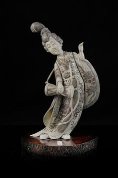 Japanese Bone Figurine