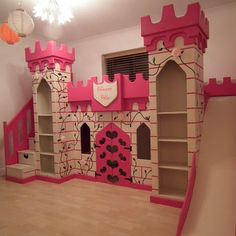 Adorable The Princess Castle Bunk Bed With Slide And Bookshelves And Door And Stair With Storage , The Princess Castle Bedroom In Bedroom Category Princess Bunk Beds, Princess Castle Bed, Princess Bedrooms, Bunk Beds Small Room, Cool Bunk Beds, Kids Bunk Beds, Small Rooms, Bunk Bed With Slide, Bunk Beds With Stairs