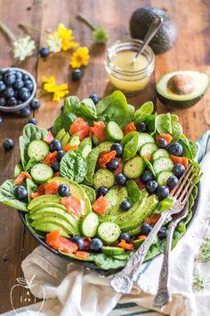 Smoked Salmon Salad with Quick Lemon Dijon Dressing (Whole30, Paleo)