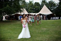 Rachel and Richard�s �Whirlwind Of Smiles and Laughter� Outdoor Tipi Wedding. By Neale James