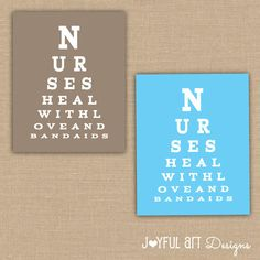 Nurse Eye Chart PRINTABLE Nurses Heal With Love and
