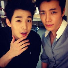 "Donghae's instagram update with Henry ""just got off stage"""