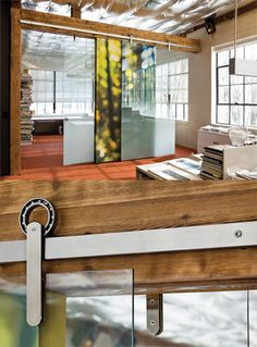 Skylab offices: Krown Lab sliding door hardware