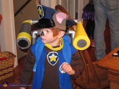 Karen: My son loves Paw Patrol and the costumes were lacking. We put our heads together and came up with what we think is an awesome homemade version. Started by spray...