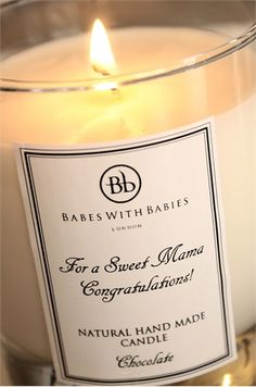 Beautiful personalised candles, handmade in England. £39 from www.babeswithbabi...