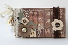 Psycho Moms Scrapbooks: Garment District - Mini Album