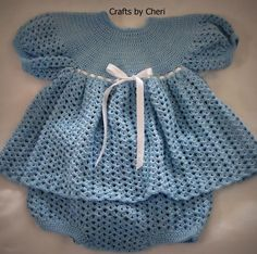 Free Baby Crochet Diaper Cover | Cheri's Crochet Baby Dress, Diaper Cover b... | Crocheting Ideas