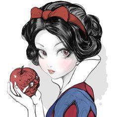 백설공듀#snowwhite #disneyprincess 40000thankyou!👍 #백설공주 #그림 Deviantart Disney, Disney Princess Art, Disney Princess Dresses, Disney Fan Art, Snow White Art, Snow White Disney, Snow White Drawing, Fanart, Disney And Dreamworks