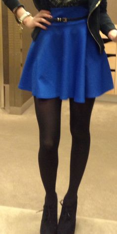 Skater skirts and tights #lulus #holidaywear @LuLu*s