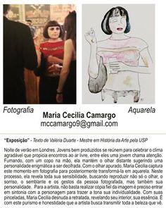 Boa Noite!   Texto de Valéria Duarte, mestre em História da Arte pela USP sobre a artista plástica Maria Cecilia Camargo.  #ART #arte #fotografia #photo #londres #aquarela #aquarelle #watercolor #artpaper #artecontemporanea #viagem #travel