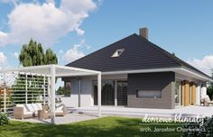 Projekt domu Wiesiołek 3 G, wizualizacja 2 Modern Family House, Sweet Home, Garage Doors, House Design, Outdoor Decor, Home Decor, Decoration Home, House Beautiful, Room Decor