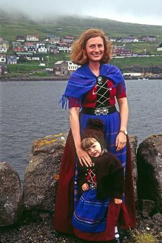 Faroese Woman and Girl in Native Dress,  save the planet by signing this petition to free Tibet,