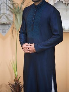 Simple & Embellished Kurta Designs 2016-2017 by J. Majestic Eid Collection (24)
