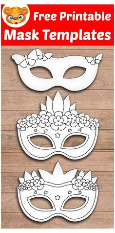 Mardi Gras Mask Template, Superhero Mask Template, Masquerade Mask Template, Masquerade Masks, Free Activities For Kids, Free Preschool, Preschool Learning, Templates Printable Free, Free Printables