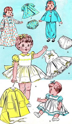 1950s Doll Clothes Pattern Butterick 9589 30 Inch by paneenjerez, $16.00