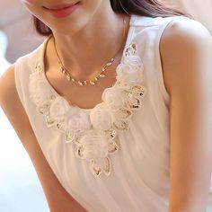 women blouses blusa feminino womens tops fashion Sleeveless Chiffon Shirt S-6XL Plus Size White Black