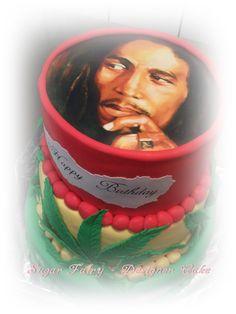 One Love - Bob Marley Birthday Cake https://www.facebook.com/fairy.designer.cake/