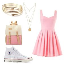 """""""Gold"""" by lejlamahmutovic on Polyvore featuring Converse"""