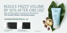 Don't you just love the magic of Aveda? Reducing frizzy volume by 50% after just one use.... is purefection! Aveda Smooth Infusion Masque does just that! Pick some up first thing tomorrow at our salon store 1402 Douglas St. Victoria, BC #Aveda #HairCare #SmoothInfusion #BeautySchool #AvedaInstitute #AvedaInstituteVictoria