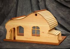 Old style European farm doll house by jminmainewoodworking on Etsy, $500.00