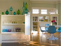 glass decorations, dining room