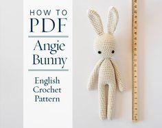 crochet pattern, Angie bunny, step by step US terms DIY pattern ready to download by CrochetObjet by CrochetObjet on Etsy https://www.etsy.com/listing/263276112/crochet-pattern-angie-bunny-step-by-step